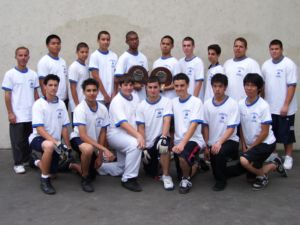 Pictured is the 2009 St. Francis Prep Junior Varsity C.H.S.A.A. Handball Champions. The JV Team was undefeated by winning all 15 matches and they were perfect by winning all 45 games. They are the first CHSAA handball team to accomplish this record. Photo by Jeremy Garcia '10.