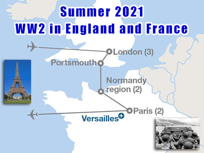 England and France Summer 2020 Trip