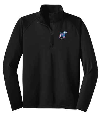 Black 1/4 Zip Performance