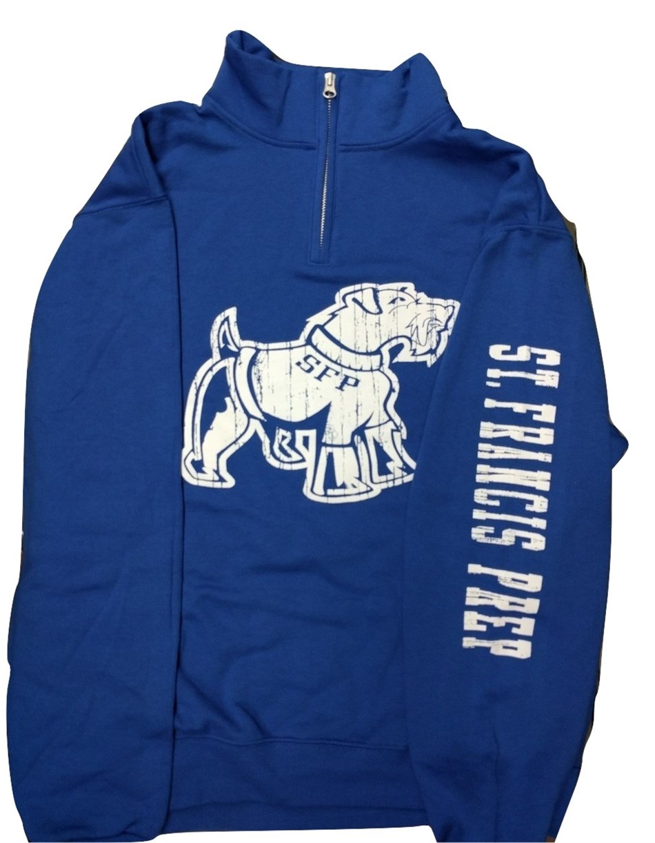 Blue Big Dog 1/4 Zip