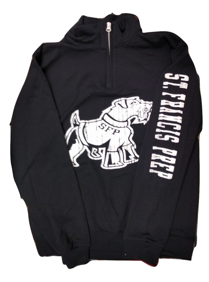1/4 ZIP Big Dog BLACK