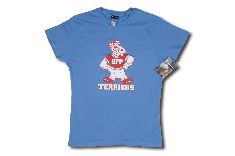 Lt. Blue Standing Terrier Girls T-Shirt